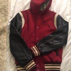Marc Jacobs Leather sleeve varsity jacket Women S